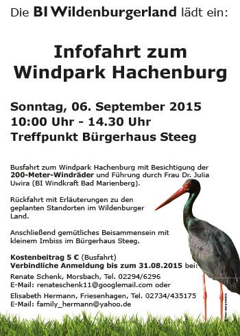 Infofahrt zum Windpark Hachenburg