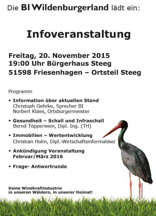Infoveranstaltung BI Wildenburgerland