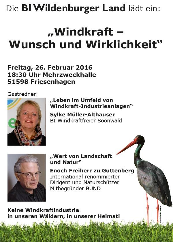 Einladung BI Wildenburger Land