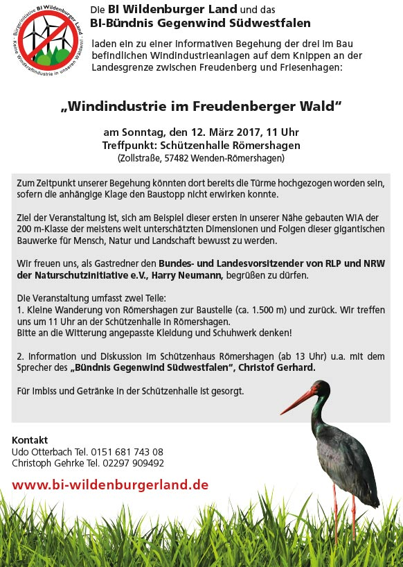 Windindustrie im Freudenberger Wald