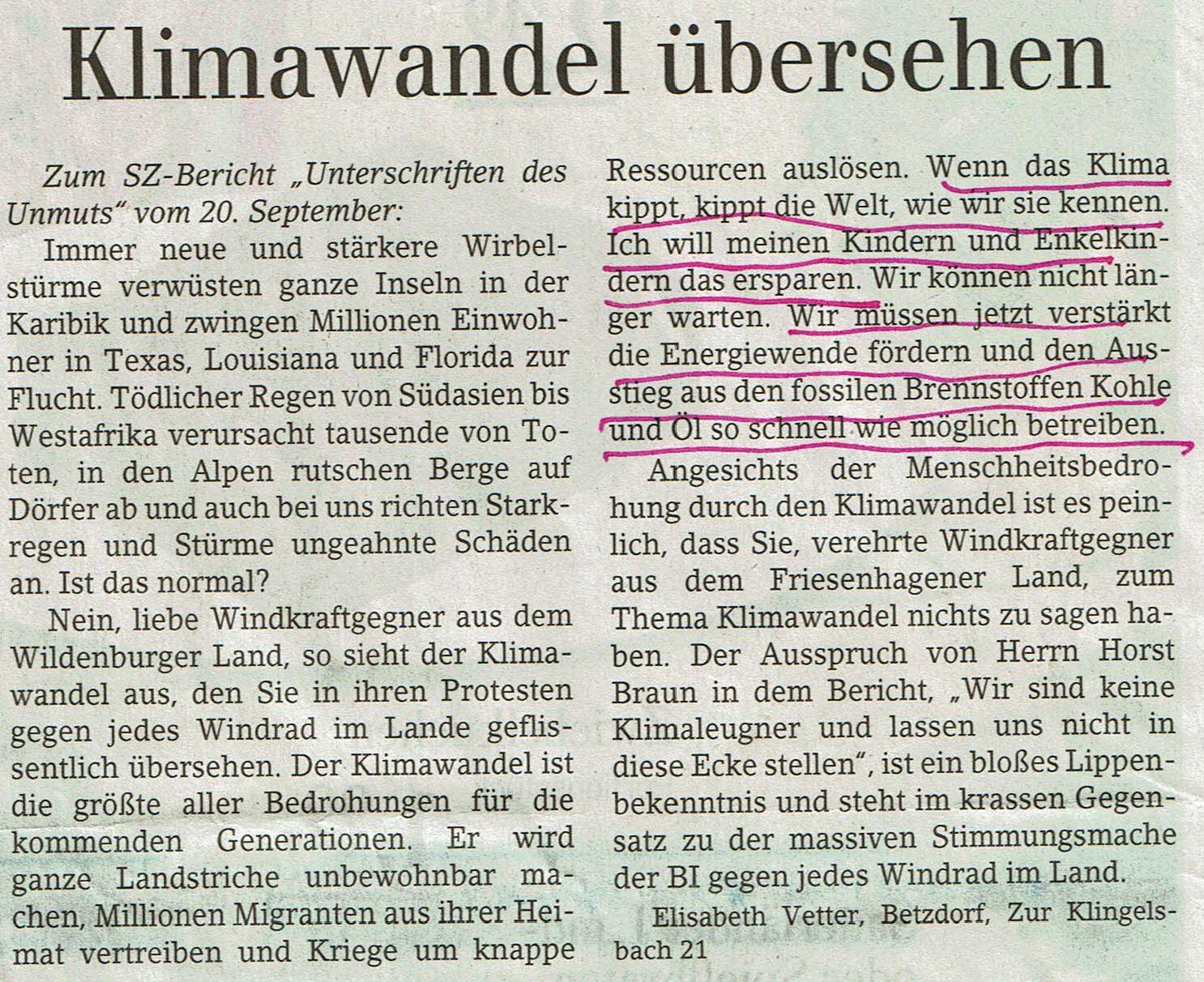 """Zum SZ-Bericht """"Unterschriften des Unmuts"""""""