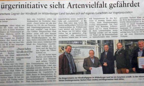 Artenschutzgutachten_Rheinzeitung15.01.2018