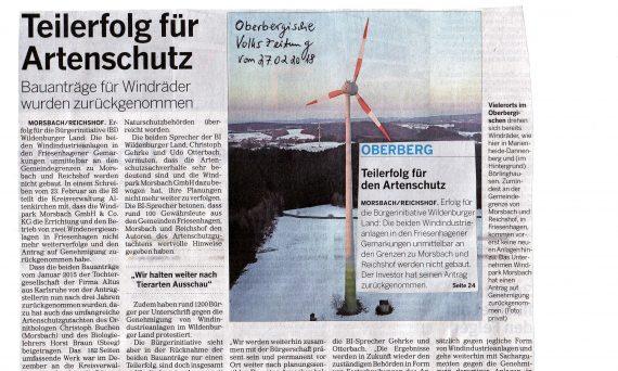 Teilerfolg-Oberbergische -Volkszeitung